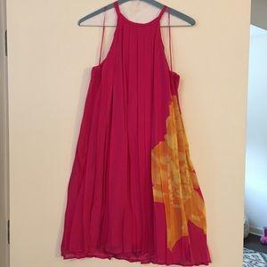 Bright pink summer dress